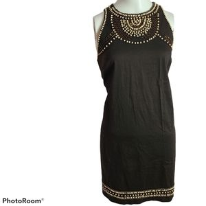 Le Chateau cotton spandex beaded fitted  dress